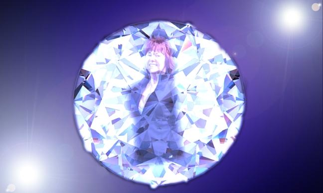 Diamond Joan Blue Flare