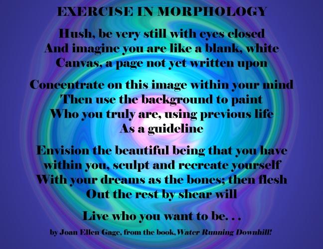 Exercise in Morphology Poem by JEG