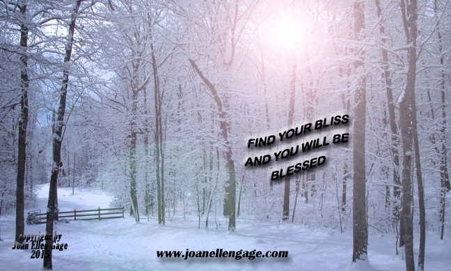 Snow scene with quote JEG