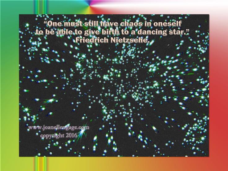 stars glowing Nietzsche quote 9 X 6