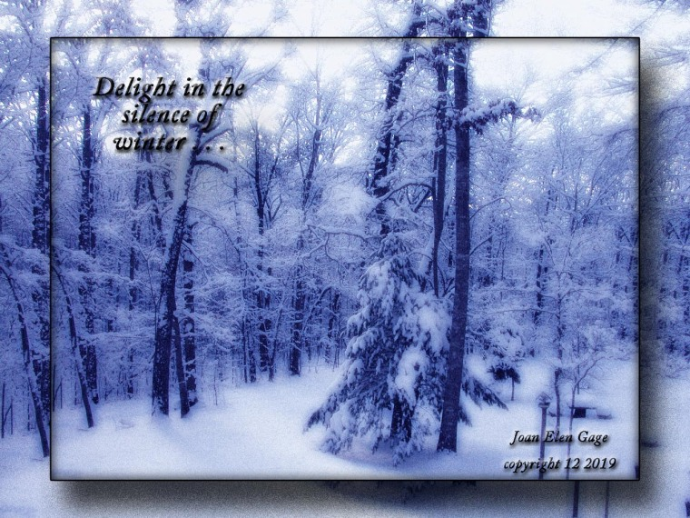 Winter Difuse Glow blue JEG framed
